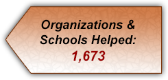 Schools and organizations helped