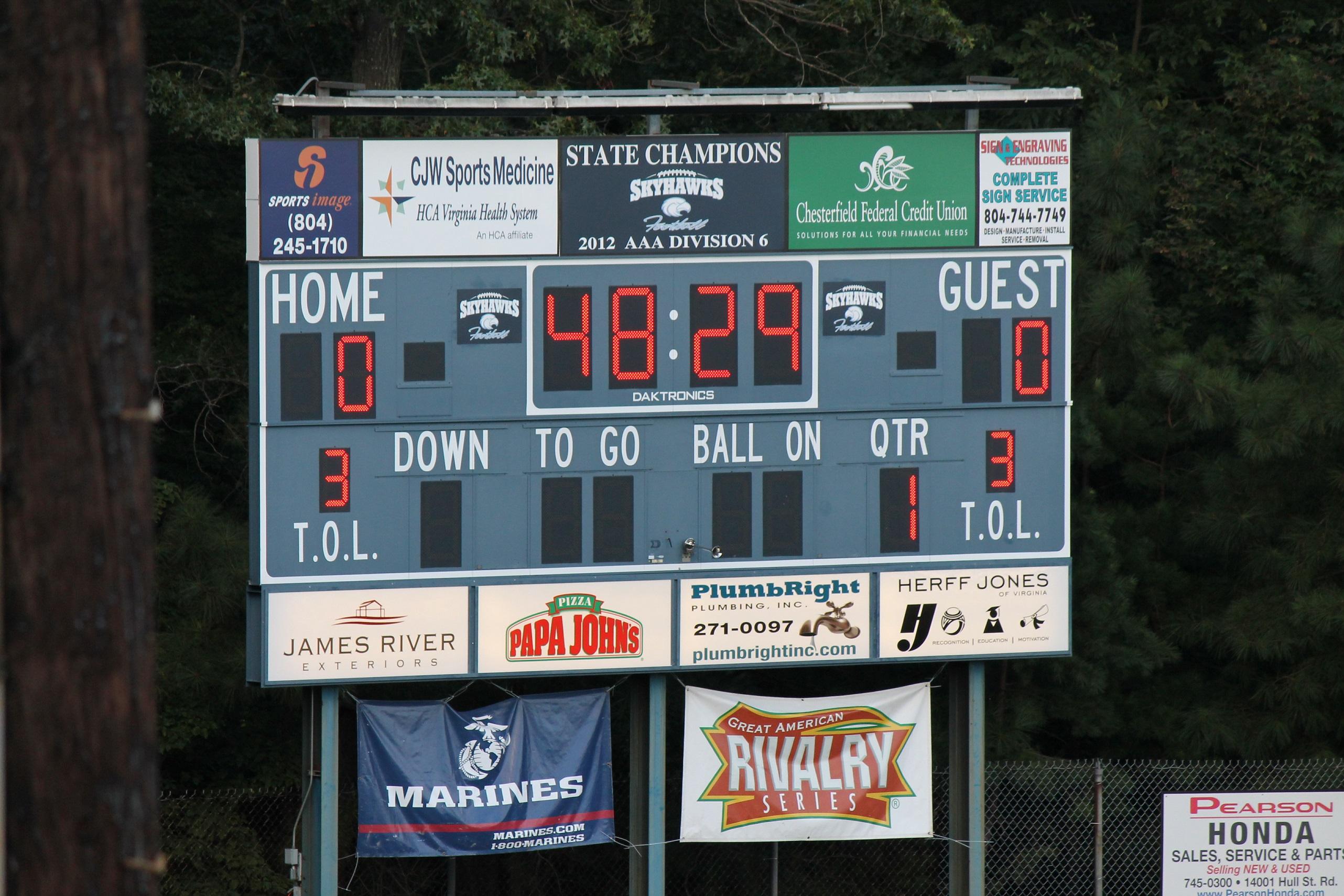 Lc Bird High School Va Scores Football Scoreboard